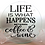 Thumbnail: Life is what happens b/t coffee & wine cutting board, trivet or coaster