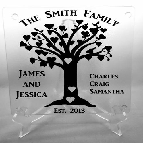 Personalized Family Tree cutting board, trivet, coaster