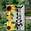 Thumbnail: Welcome Garden Flag Sunflowers Wood background