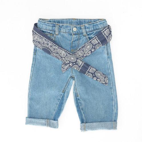 2-3Y | ZARA | מכנסי ג'ינס בנדנה