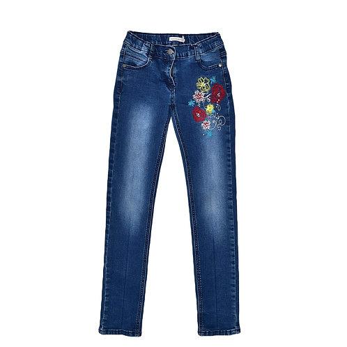 10-11Y   Deux Par Deux   מכנסי ג'ינס רקומים