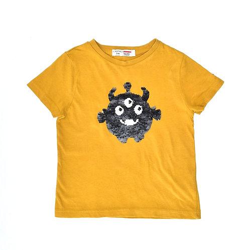 2-3Y | CASTRO | חולצת מפלצת פאייטים מתחלפים
