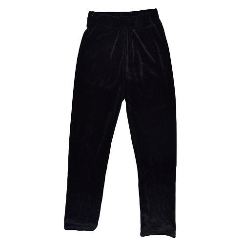 6-7Y | Flamingo | מכנסי קטיפה שחורים