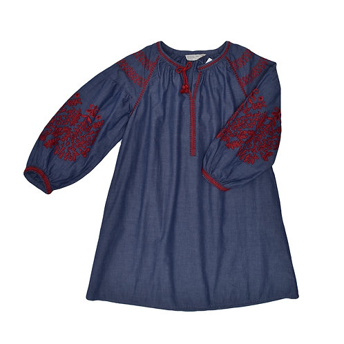 9-10Y |  ZARA | שמלת בוהו רקומה