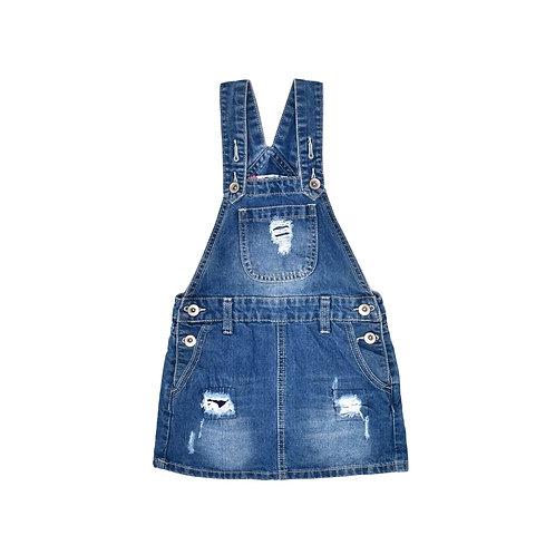 5-6Y | Tamnoon | אוברול חצאית בג'ינס
