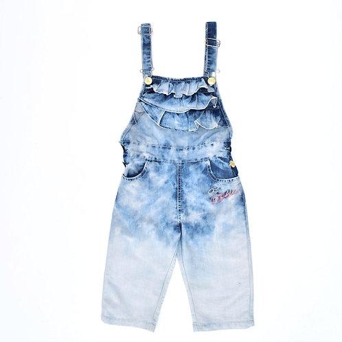 7-8Y | B&W Wear | אוברול ג'ינס פפלום