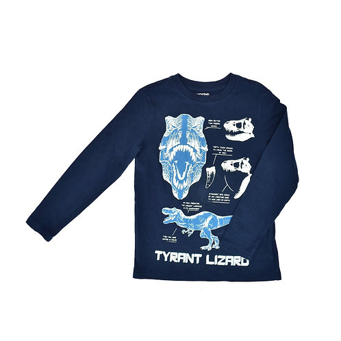 7-8Y | Land End  |  חולצה פרה-היסטורית