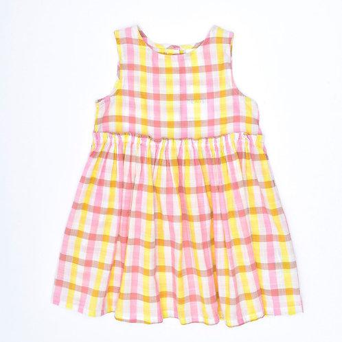 9-12M | H&M | שמלת משבצות