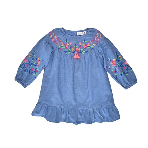3-4Y | ZARA | שמלת ג'ינס רקומה