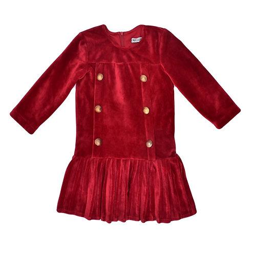 4Y | שמלת קטיפה ז'נדרמרי