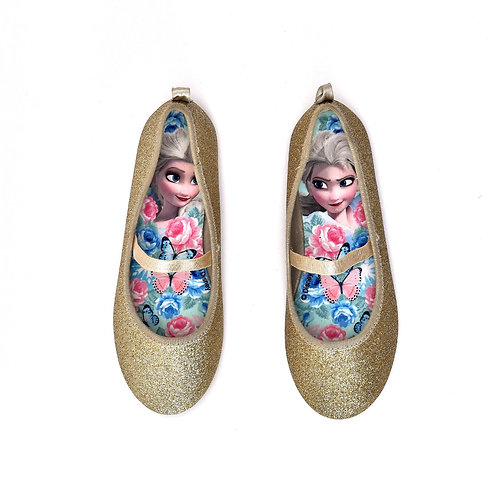 Size 32 | H&M | נעלי סירה מוזהבות