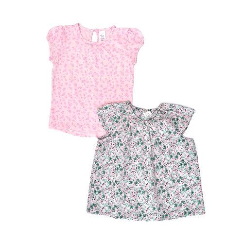 12-18M   H&M   זוג חולצות פריחה