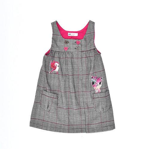 2-3Y | H&M | שמלת סרפן משובצת