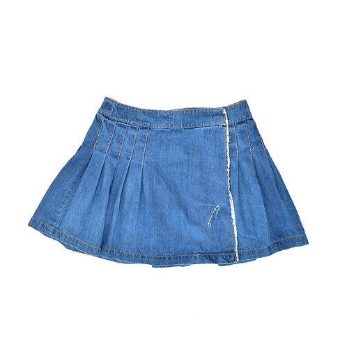 11-12Y | Tommy Hilfiger | חצאית ג'ינס מקופלת