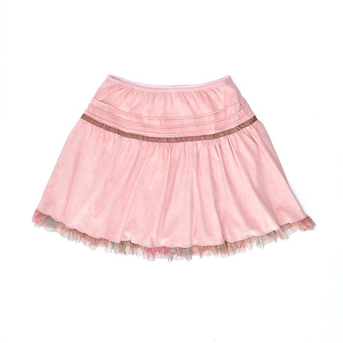 7-8Y | amelia | חצאית זמש קורל
