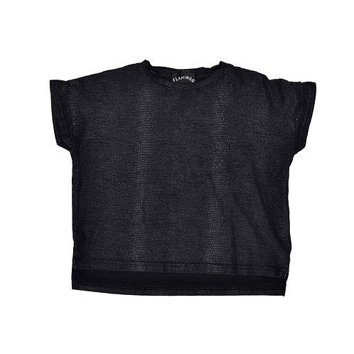4-5Y   FLAMINGO   חולצת עור נחש