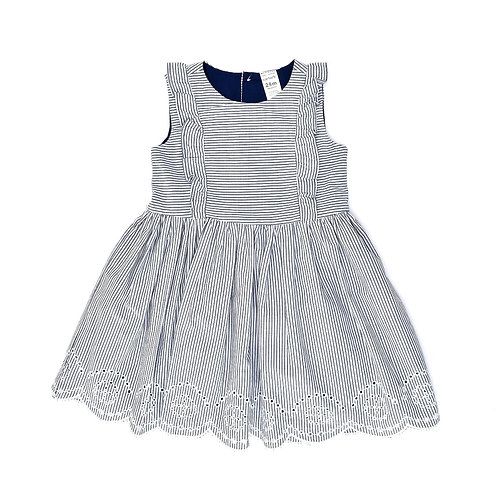 24M | Carter's | שמלת פסים ותחרה