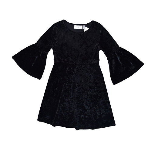 5-6Y   The Children's Place    שמלה קטיפה שחורה