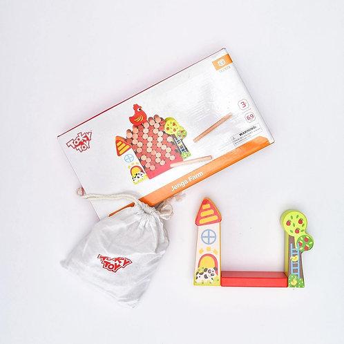 3-4Y | Tooky Toy |  jenga Farm משחק
