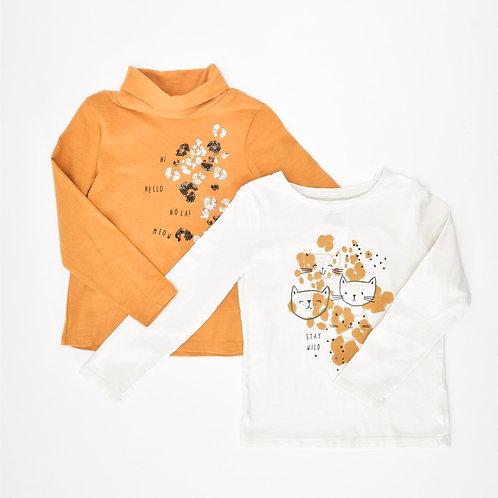 3-4Y | Mother Care | זוג חולצות מיאו