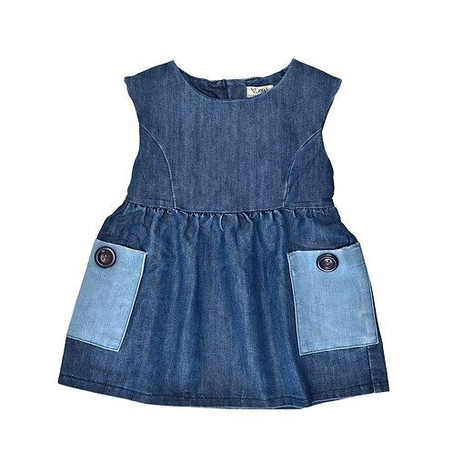 12-18M | NEXT | שמלת ג'ינס בכיס