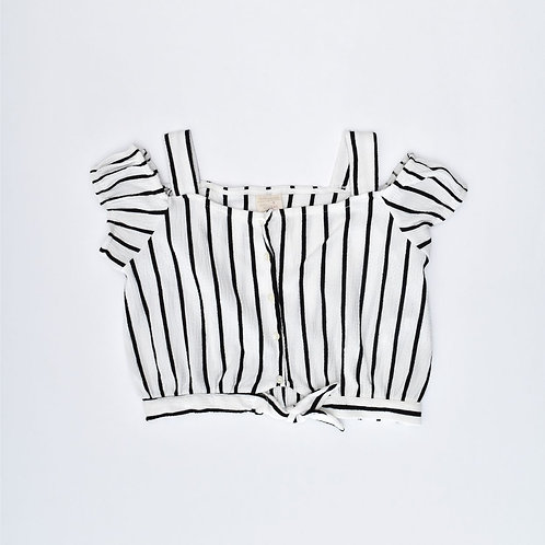 7Y   ZARA   חולצת קרופ פסים