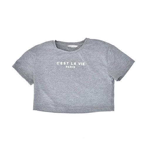 11-12Y | SHEIN |  חולצת קרופ טופ