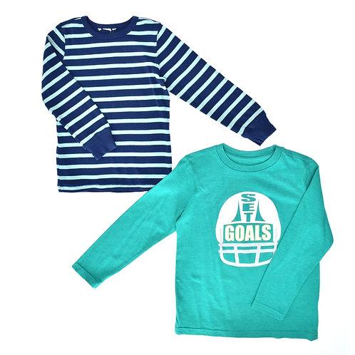 4-5Y | H&M/Cat&Jack | זוג חולצות כייפיות