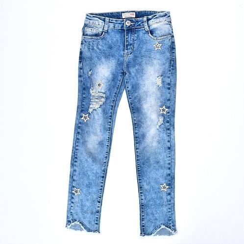12Y | TamTam | מכנסי ג'ינס סקיני כוכבים