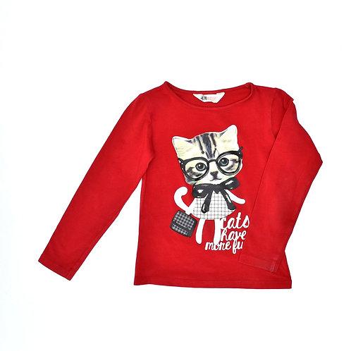 4-6Y   H&M   חולצת מיאו