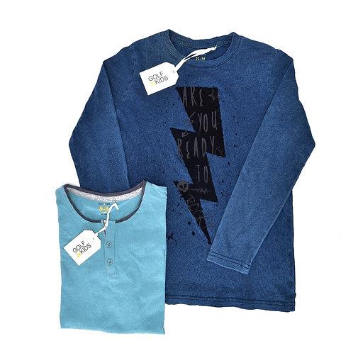 8Y | GOLF | זוג חולצות סייג' ואינדיגו