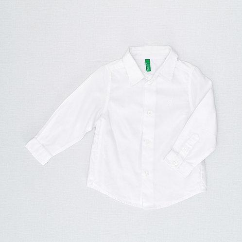 12-18M |  Benetton |  חולצה לבנה חגיגית