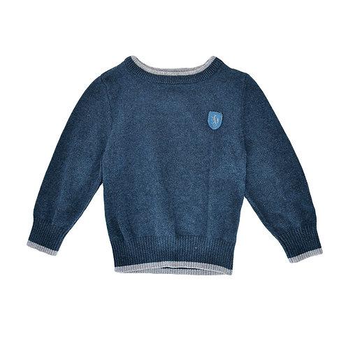 18-24m |H&M | סריג כחול טלאים