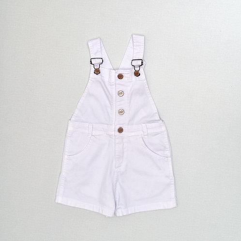 5-6Y | MKL |  אוברול בג'ינס לבן