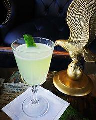 First Amendment Cocktail next to Brass Eagle