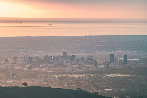 Sunset in Adelaide from Mount Lofty
