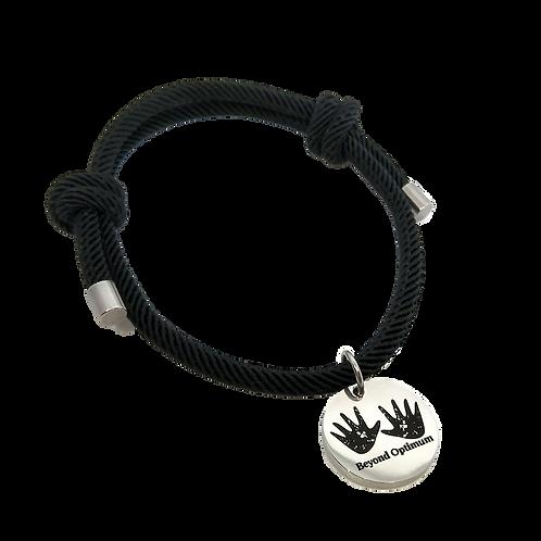 Beyond Optimum Black Simple Bracelet