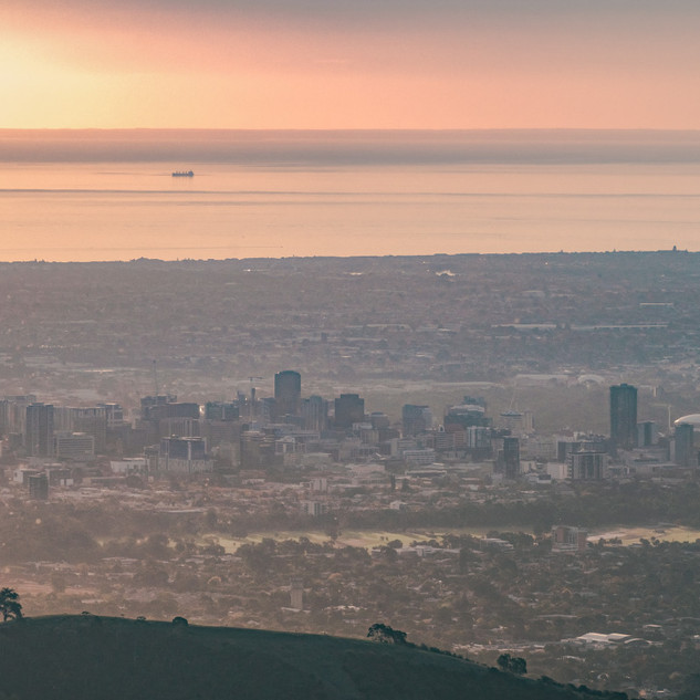 Adelaide City from Mt Lofty