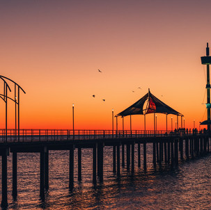 Brighton Jetty Golden Sunset