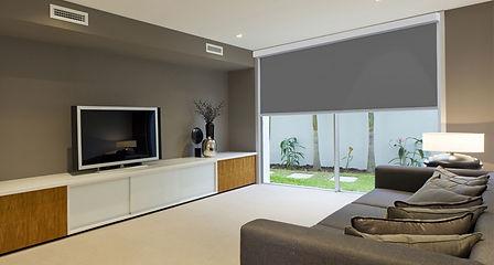 Interior Blind Media Room