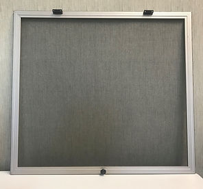 Hinged insect screen window