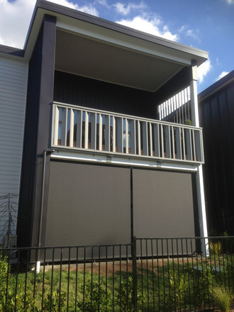 Gear box operated outdoor screens