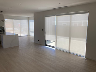 Dual roller blinds, sunscreen and black out
