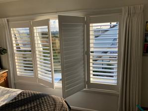 white PVC shutters
