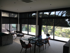 Sunscreen roller blinds wth battery operated motors