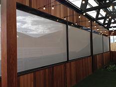 Ziptrak outdoor screens