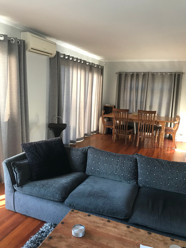 Curtains with silver rod