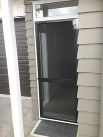 Hinged insect screen door