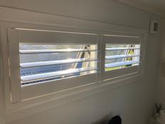 PVC shutters hinged