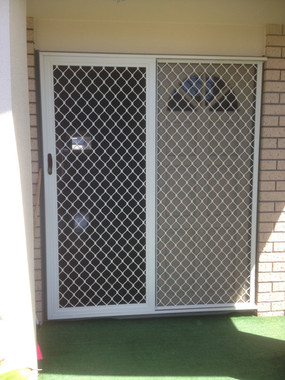 Sliding and fixed security door